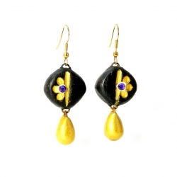 Buy Now Idiort's Kshma Designer terracotta drop earrings at best prices