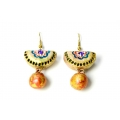 Buy designer fashion terracotta earrings online