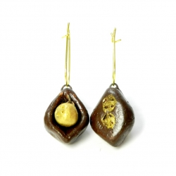 Terracotta handcrafted earrings .An Ideal Gift For A Women