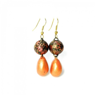 Buy Handmade terracotta earrings online shopping at Idiort