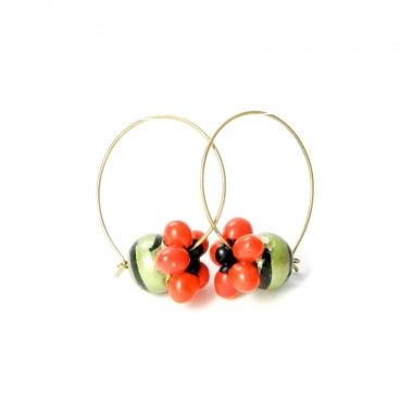 Handmade terracotta earrings image