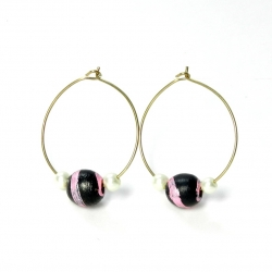 Simple & Cute Handmade Terracotta Earrings Hoops