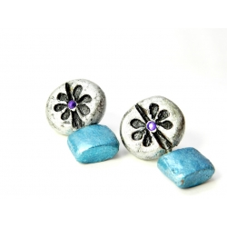 Shop Now! Baked Terracotta Earrings. Handmade Stud Earrings