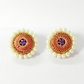 idiort-kshma-terracotta-earrings-studs-with-pearls-avani-e-ava-09