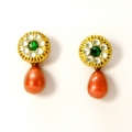 Buy handmade terracotta earrings tiny studs pendant only on idiort.com