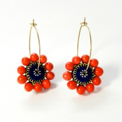 Shop Now trendy terracotta earrings eco friendly with Natural Colours
