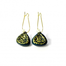 Terracotta earrings for women, girls only on Idiort.com