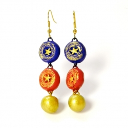 Buy terracottas earrings droplets latkan