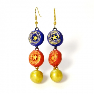 Buy modern terracotta jewellery latkan earrings only on idiort
