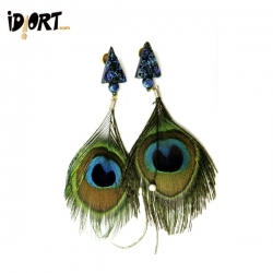 Feather Earrings Online Exclusively On www.idiort.com