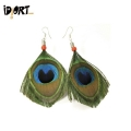Buy Peacock Feather Earrings online in India On Idiort