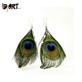 Peacock feather earrings online in india. Buy Now For a Different look