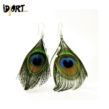 Peacock feather earrings For a Different look. Buy Now!