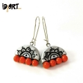 Natural Designer Handmade Terracotta Earrings Exclusively on Idiort