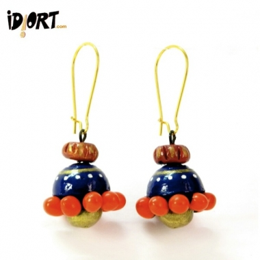 Natural Designer Handmade Terracotta Earrings Jhumka Exclusively on Idiort