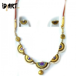 The Best Gift Is Handmade Gift! Buy This Exclusive Terracotta Jewellery Set on Idiort