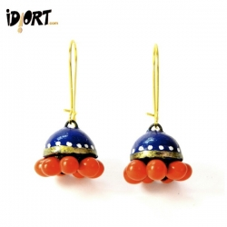 Idiort's Natural Designer Handmade Terracotta Earrings Exclusively on idiort.com