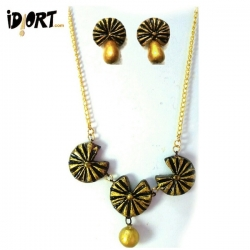 Buy Brand New Handmade Terracotta Jewellery Set Exclusively On Idiort