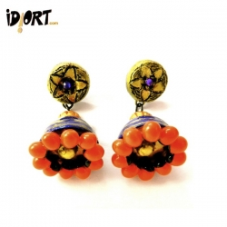 Terracotta Jhumkas Earrings Studs Exclusively on www.idiort.com