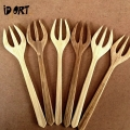 Bamboo wooden fork cutlery set online on idiort