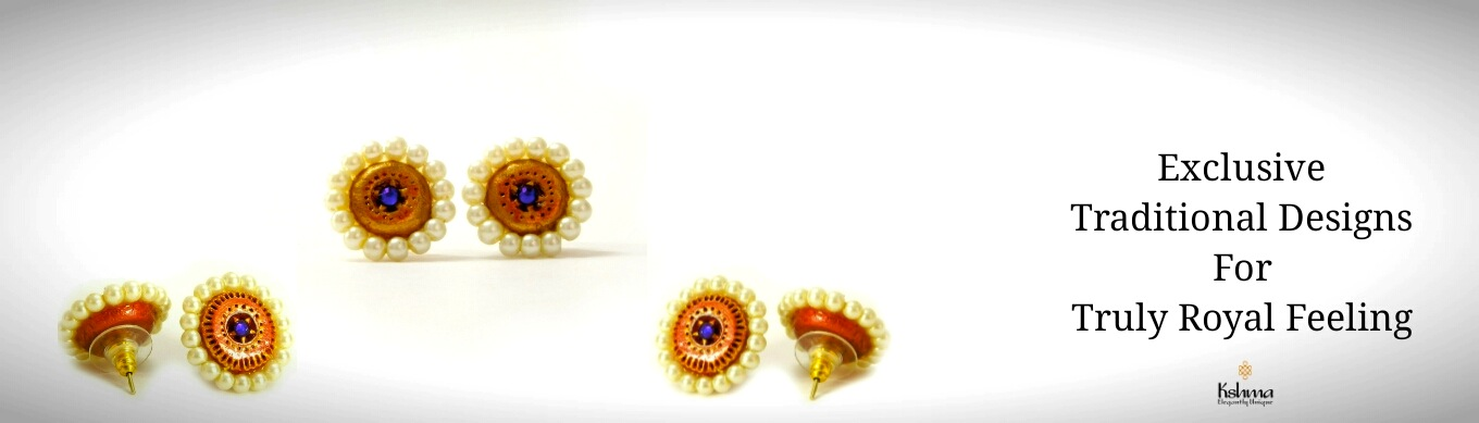 Buy Handmade Terracotta Traditional Earrings